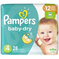 Pampers Baby Dry Talla 4 Jumbo, 28 Unidades